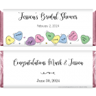 Wedding Shower Candy Hearts Candy Bar Wrapper WS202