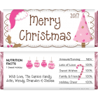 Pink Tree Christmas Candy Wrappers XMAS204