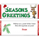 Reindeer Christmas Candy Wrapper XMAS210