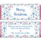 Watercolor Pink and Blue Snowflakes Christmas Wrappers XMAS234