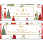 Christmas Trees Holiday Candy Bar Wrapper XMAS250