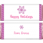 Stripes and Snowflakes Candy Bar Wrapper XMAS260